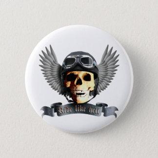 Biker Skull A Pinback Button