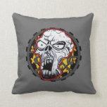 Biker Skull American MoJo Pillow