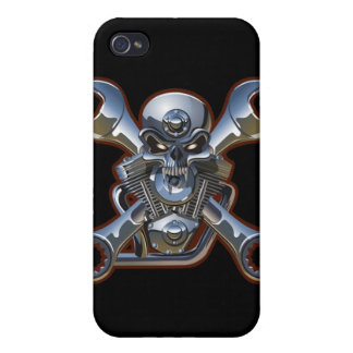 biker skull and wrenches  iPhone 4/4S case