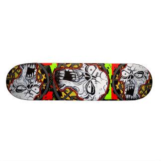 Biker Skull Art Skateboard