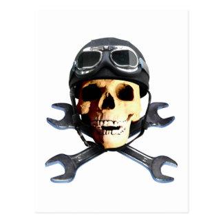 Biker Skull B Postcard