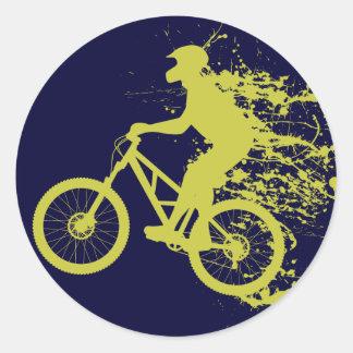 Biker splash classic round sticker