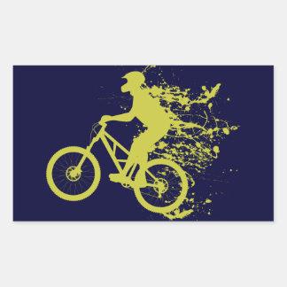 Biker splash rectangular sticker