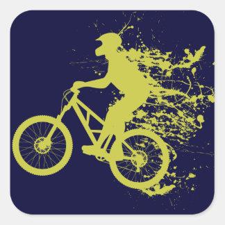Biker splash square sticker