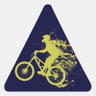 Biker splash triangle sticker