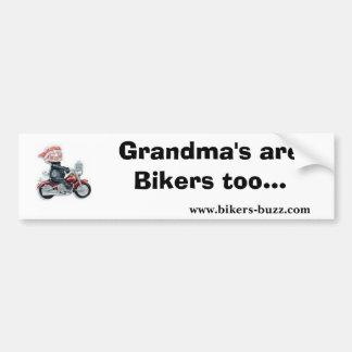 Biker Sticker Grandma Bumper Sticker Car Bumper Sticker