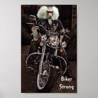 Biker Strong Poster