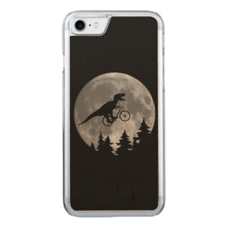 Biker t rex In Sky With Moon 80s Parody Carved iPhone 7 Case