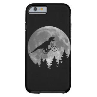 Biker t rex In Sky With Moon 80s Parody Tough iPhone 6 Case