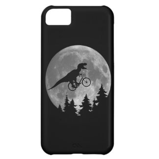 Biker t rex In Sky With Moon 80s Parody iPhone 5C Case