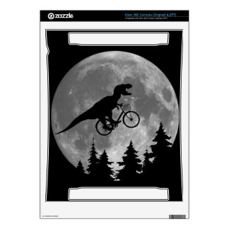 Biker t rex In Sky With Moon 80s Parody Decals For Xbox 360