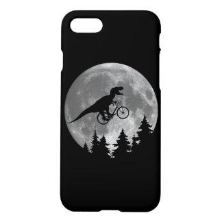Biker t rex In Sky With Moon 80s Parody iPhone 8/7 Case