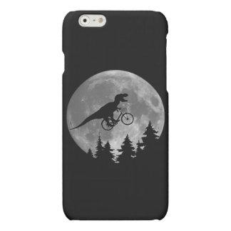 Biker t rex In Sky With Moon 80s Parody Matte iPhone 6 Case