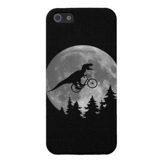 Biker t rex In Sky With Moon 80s Parody iPhone 5 Cover