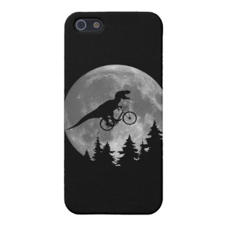 Biker t rex In Sky With Moon 80s Parody iPhone SE/5/5s Cover