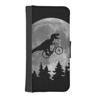 Biker t rex In Sky With Moon 80s Parody iPhone 5 Wallets