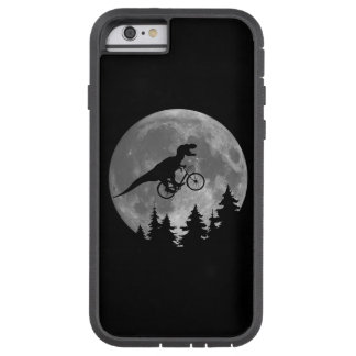 Biker t rex In Sky With Moon 80s Parody Tough Xtreme iPhone 6 Case