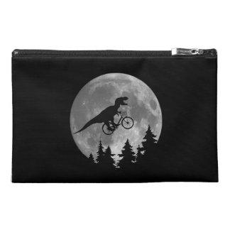 Biker t rex In Sky With Moon 80s Parody Travel Accessory Bag