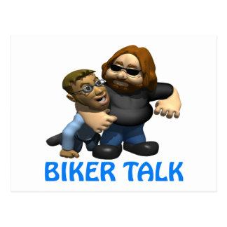 Biker Talk Postcard