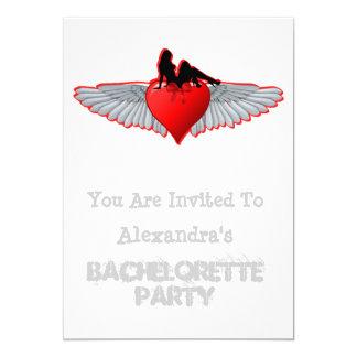 Biker tattoo rock style bachelorette party card