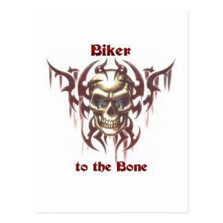 Biker to the Bone Postcard