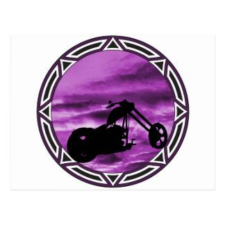 Biker Tribal Purple Chop Postcard