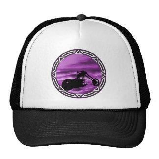 Biker Tribal Purple Chop Trucker Hat