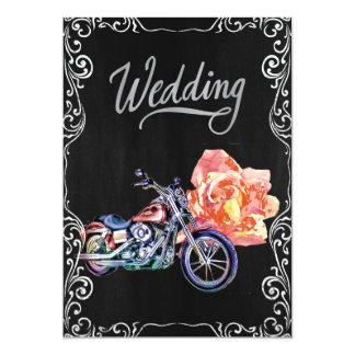 "Biker Wedding Invitation 5"" X 7"" Invitation Card"