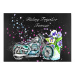 Biker Wedding Invitation with Motorcycle
