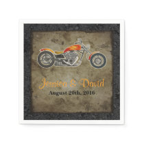 Biker Wedding Paper Napkins