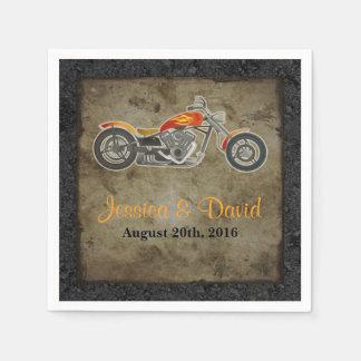 Biker Wedding Paper Napkins