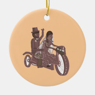 Biker Wedding Products Ceramic Ornament