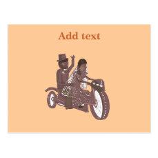 Biker Wedding Products Postcard