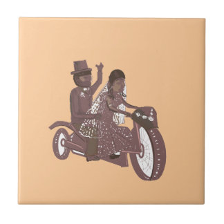 Biker Wedding Products Small Square Tile