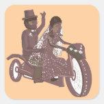 Biker Wedding Products Square Sticker