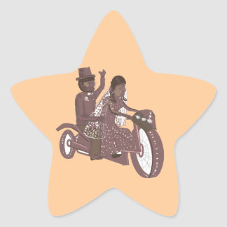 Biker Wedding Products Star Sticker