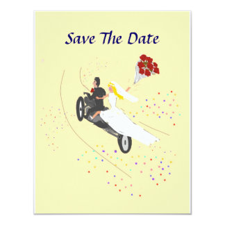Biker Wedding Save The Date Card
