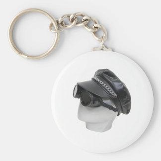 BikerAttire073109 Basic Round Button Keychain