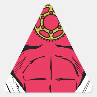Bikerman el jinete pegatina triangular