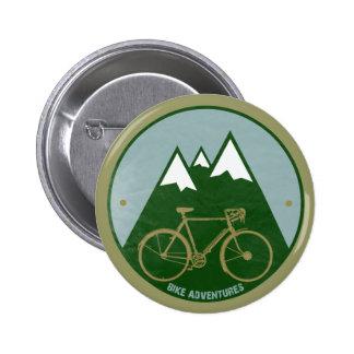 bikers adventure, mountains 2 inch round button