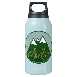 bikers adventure, mountains insulated water bottle