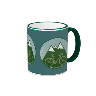 bikers adventure, mountains ringer mug