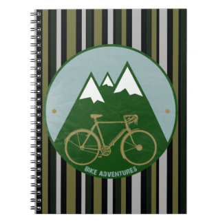 bikers adventure, mountains note books