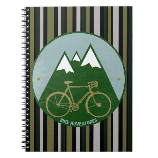bikers adventure, mountains spiral notebook