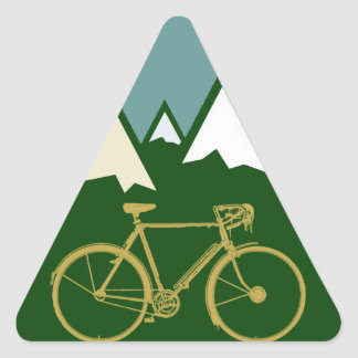 bikers adventure, mountains triangle sticker