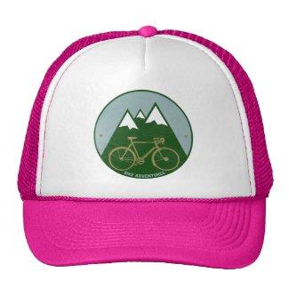 bikers adventure, mountains trucker hat