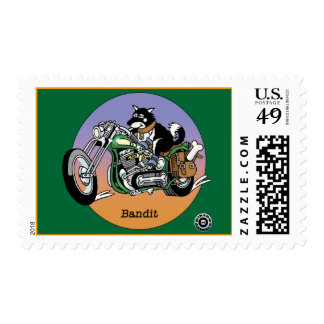 Bikers are Animals © - Bandit Postage Stamp
