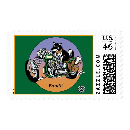 Bikers are Animals © - Bandit Postage Stamp