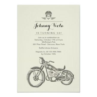 "Biker's Birthday Invitation 5"" X 7"" Invitation Card"