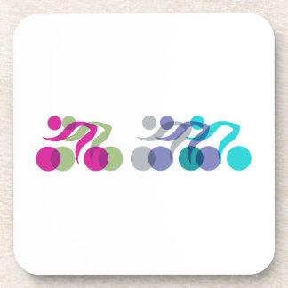 Bikers cool logo drink coasters